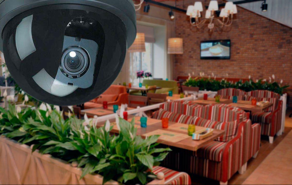 Видеонаблюдение бар ресторан СПб